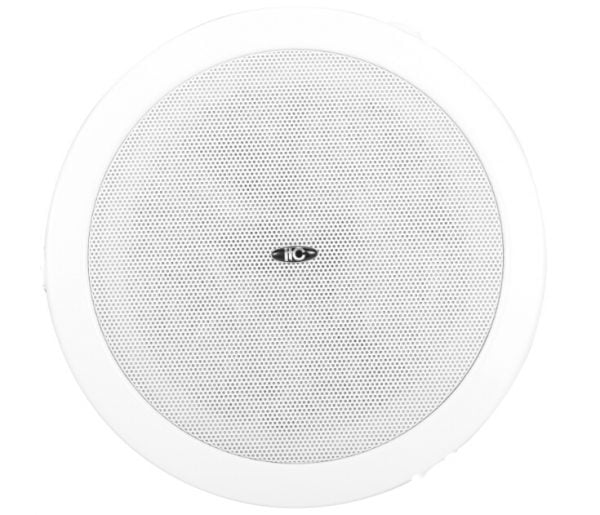 """ITC T-105S 5"""" Surface Mount Ceiling Speaker,3-6-9W, with meta back can, 100V"""
