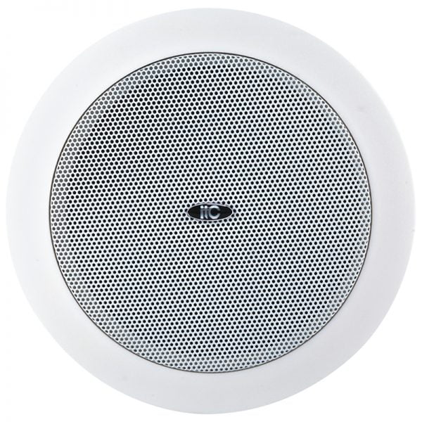 "ITC T-105U 5"" Ceiling Speaker, 1.5W-3W-6W, 100V, cutout 145mm, ABS baffle, metal grille"