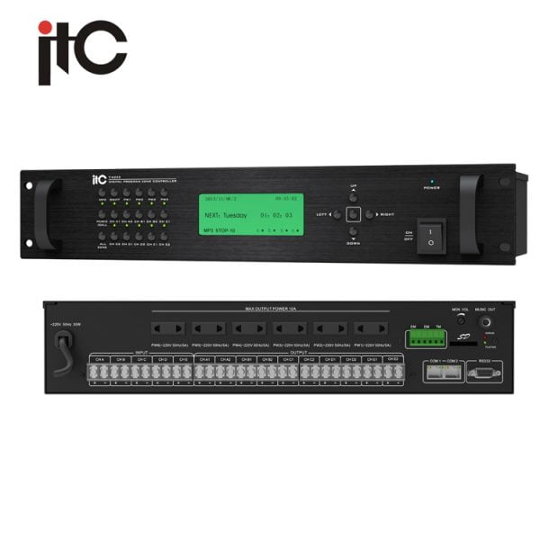 ITC T-6232 Digital 10 Zone Weekly Timer, expansion to 160 zones, CAT5 cable system