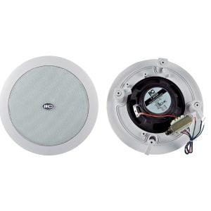 "ITC T-105 5"" Ceiling Speaker, 1.5W-3W-6W, 100V, cutout 175mm, metal grille & baffle"