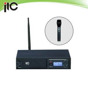 ITC T-531C UHF single channel wireless microphone with segment LCD display, 1 lapel mic